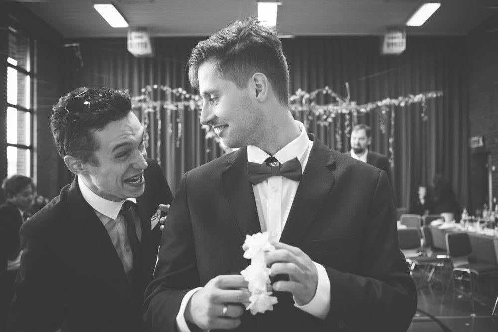 Groom at Stavanger wedding BW Guillem Cheung Bryllup