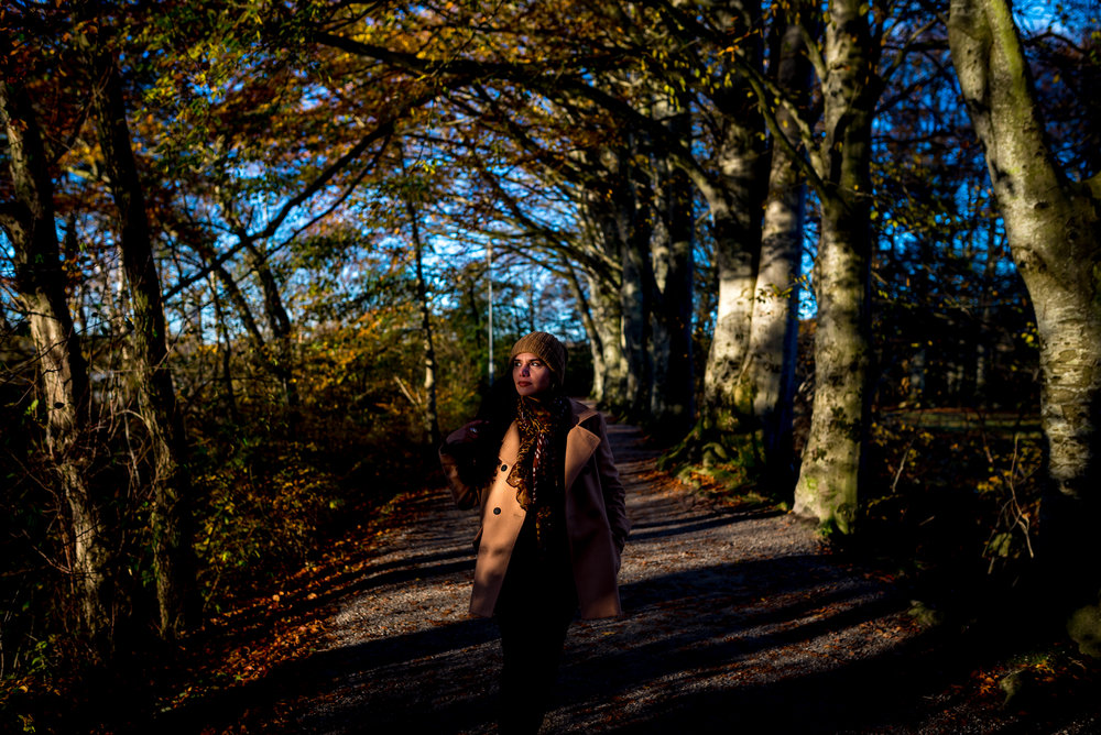 Light in the forest Stavanger Portrait photography portrett fotograf