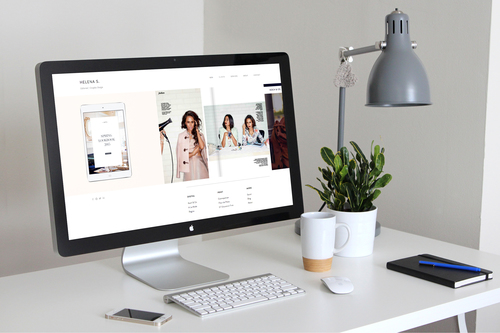 Imacdisplay fashion web design layout