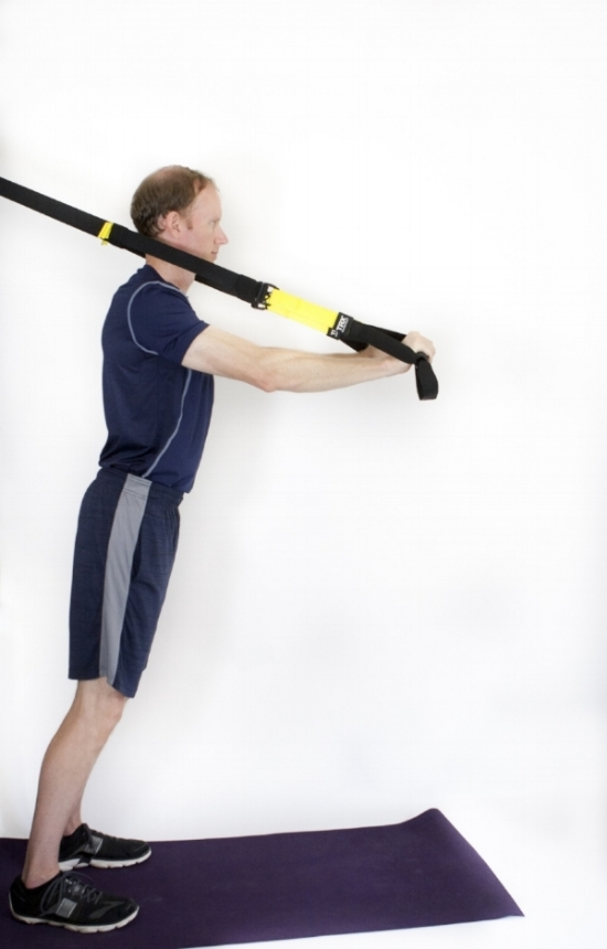 Arm extension: start position