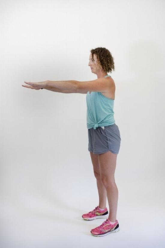 Basic squat: start position.