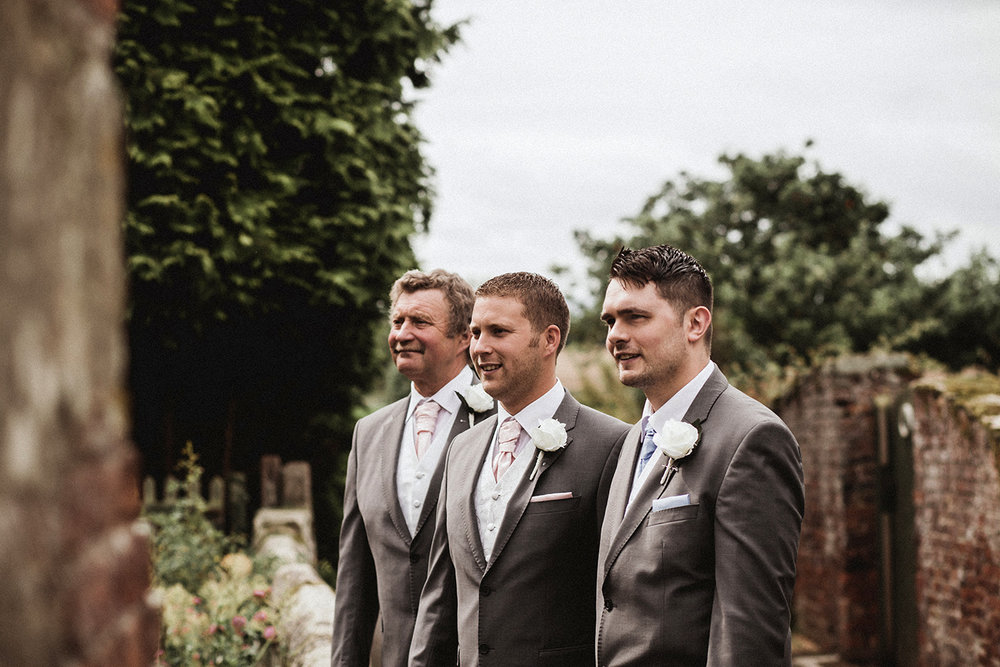 Groom, soon-to-be brother-in-law and father looking good on the wedding day