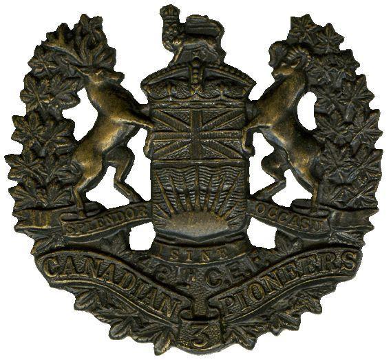 Cap badge, 3rd Pioneer Battalion (48th Canadians)
