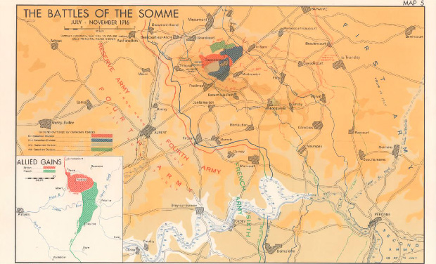 The Battles of the Somme July - November 1916