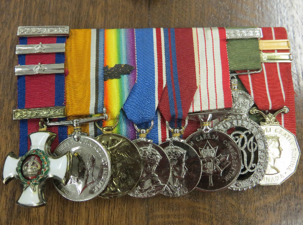Brig.-Gen. Clark's medals, including the D.S.O. with 2 bars on the far left