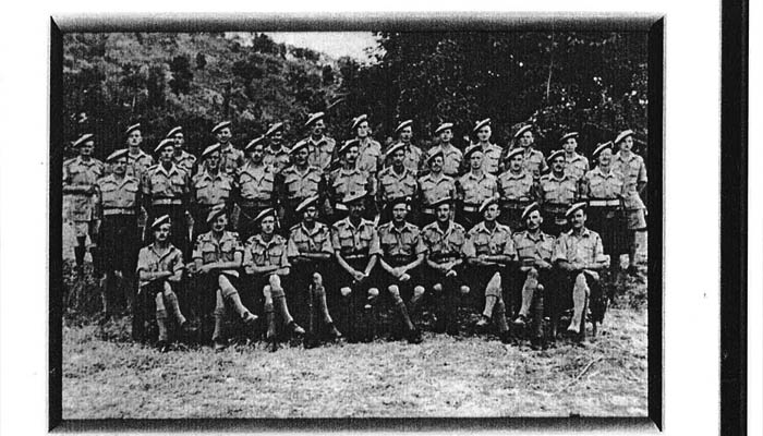 A regimental photo of the officers of the battalion. Missing from the photo are the following officers killed in Action during the campaign: Lt. Budd (21 July), Lt. French (28 July), Lt. Hall (5 August), Captain MacDonald (5 August), Captain Strain (21 July) and Lt. Wilson (28 July).