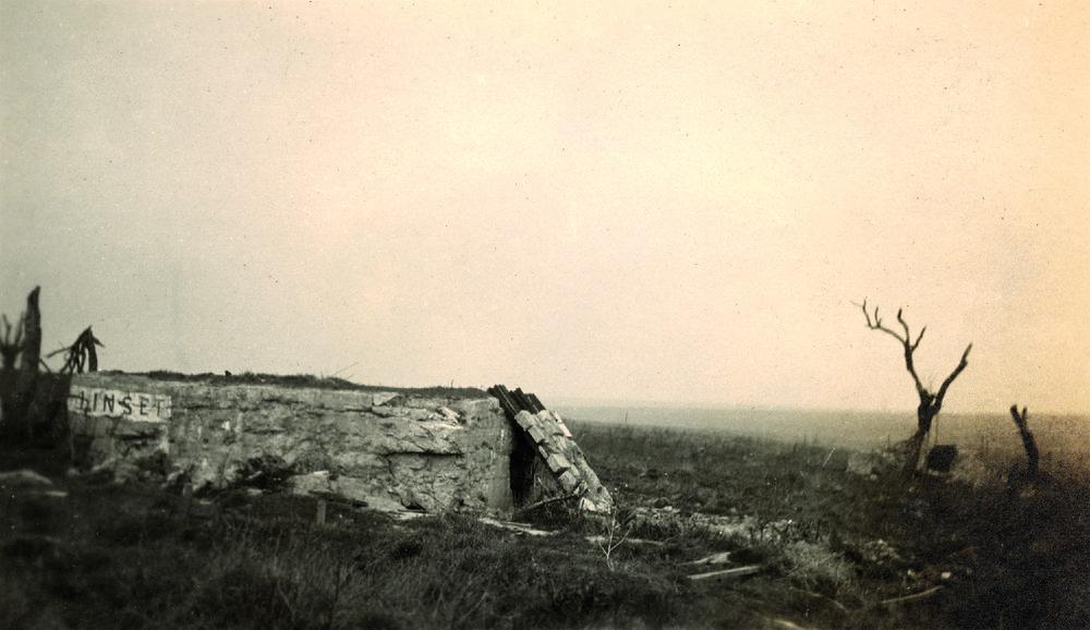 """The 72nd Battalion Headquarters at Passchendaele. """"Heine House."""""""