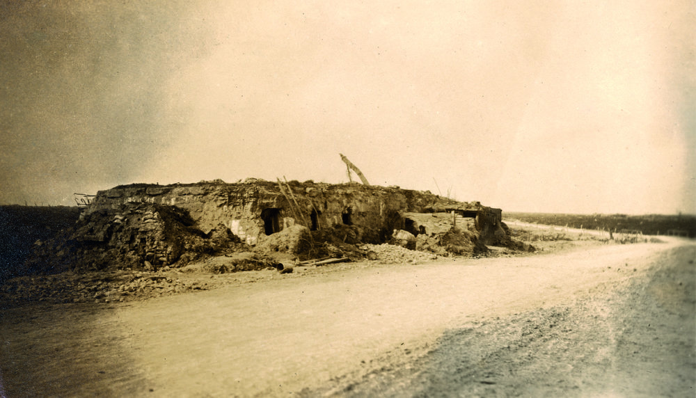 The 12th Brigade Headquarters, at Kink Corner, Passchendaele.