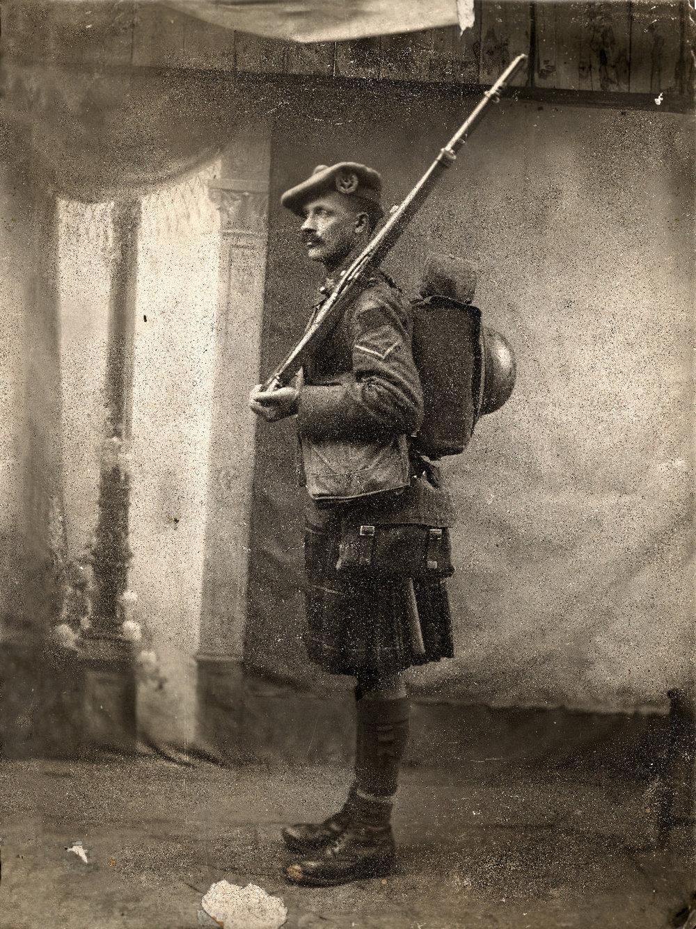 Lance Corporal James Rae, 72nd Battalion, Seaforth Highlanders of Canada