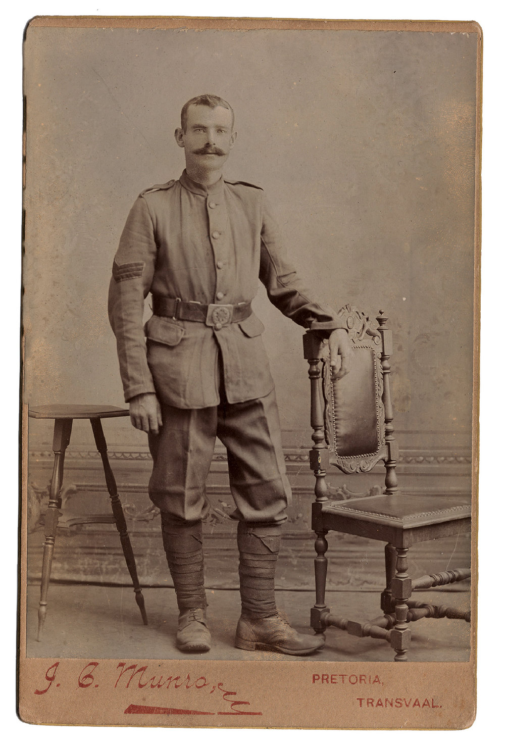 John Gillies in Pretoria, Transvaal, during the Second Boer War.