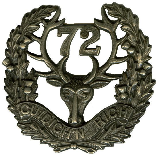 Cap badge of the 72nd Battalion (The Seaforth Highlanders of Canada)