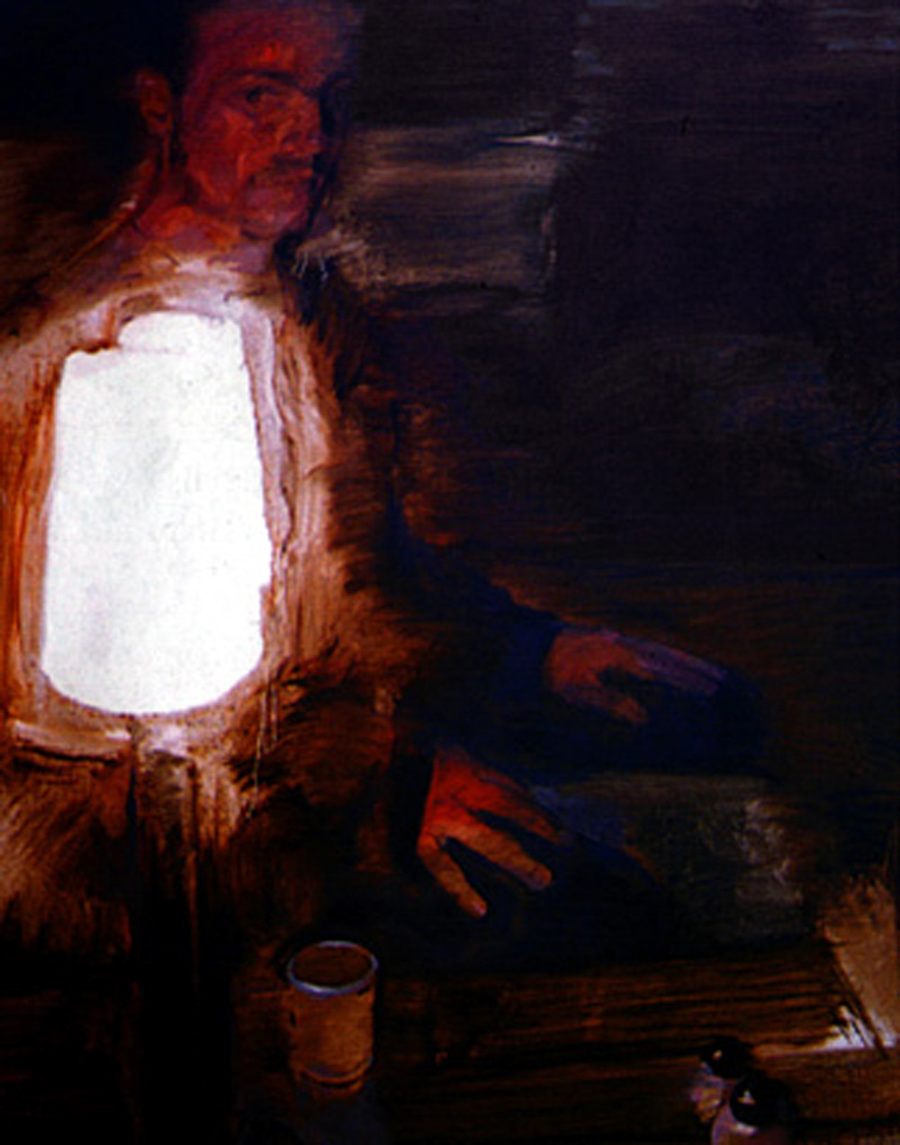 Man with a Bright Lamp