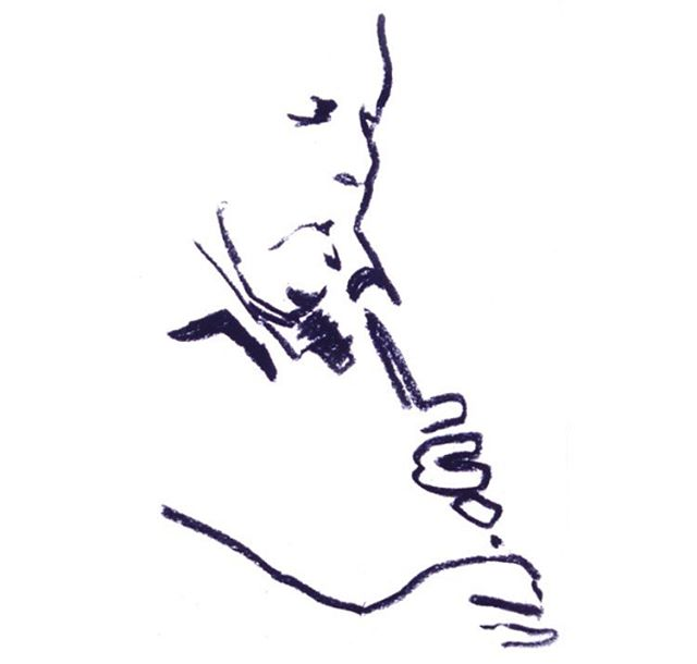 sketch of a Jazz Saxophonist #Sketchbook #drawing #sopranosax #saxophone #hands #jazz #instrument #brasssection #dexterous #fingerwork #music #musician #simpledrawing