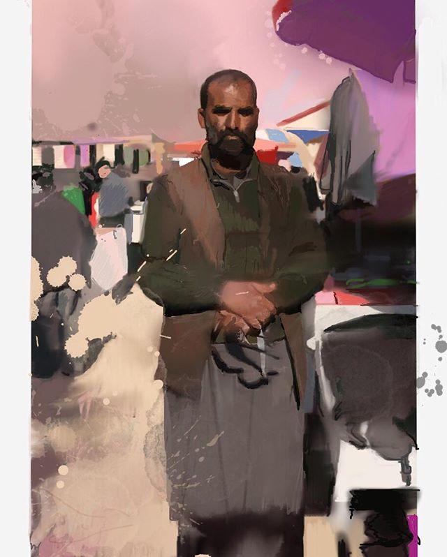 Afghan Market Trader #kabul #afghanistan #drips #ipaddrawing #procreate #procreateapp #digitalpainting #portrait #ipadart #sketchbook