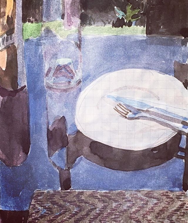 after lunch #watercolour #sketchbook #summer #holiday #hotandsunny #lunchtime