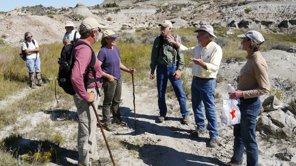 BCA's Gerry Groenewold gives an impromptu geology lesson. Photo by Graham Thomas.