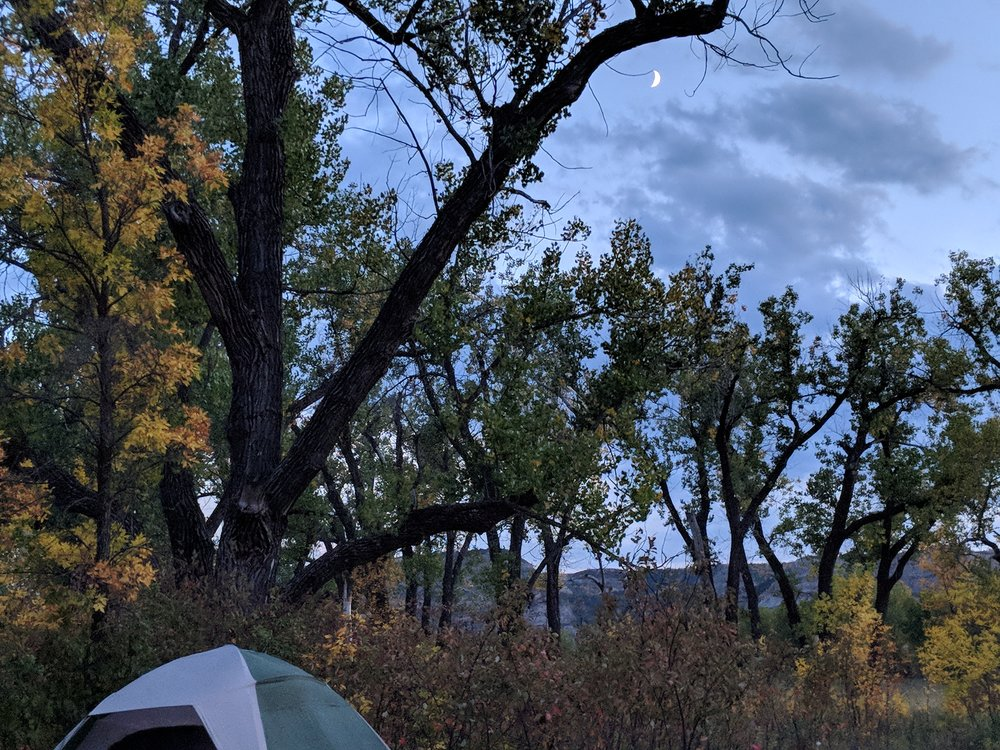 North Unit Autumn Camping by Lillian Crook