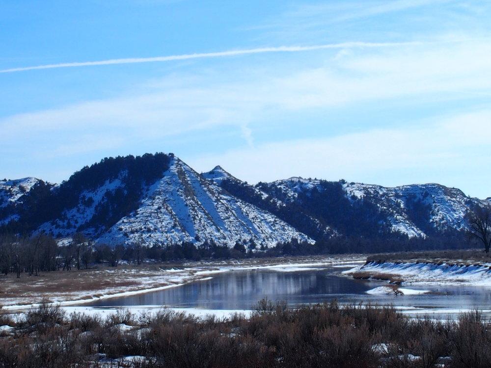 Little Missouri Scenic River valley TRNP March 2018 by Chelsea Sorenson