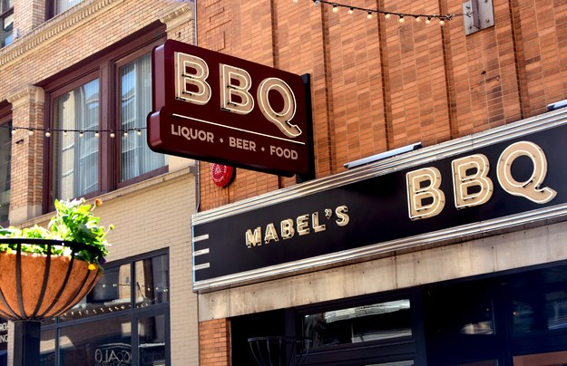The great retro signage for Mabel's BBQ in Cleveland