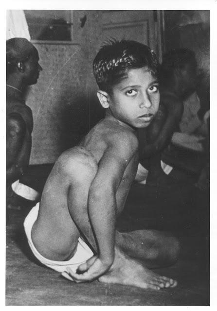 A young Manju Pattabhi Jois.