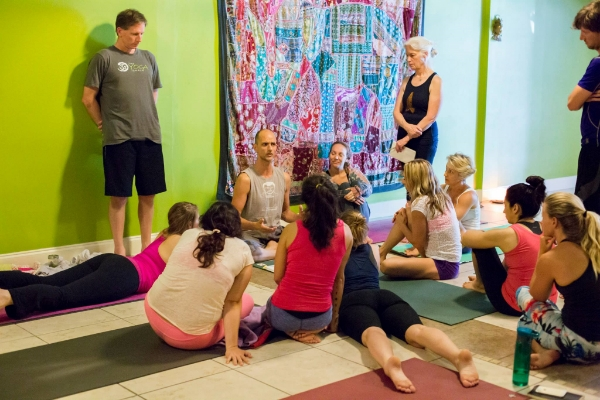 During Tim's workshop about a year ago at The Yoga Shala in Winter Park, FL.