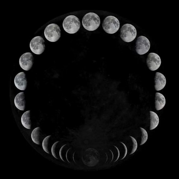 Phases of the moon cycle