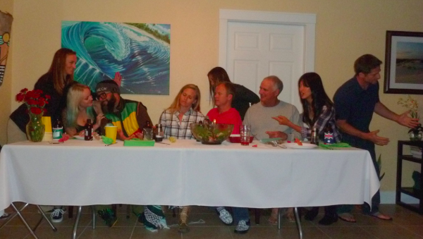 These are some of my favorite people, helping me re-create Da Vinci's  The Last Supper  at my birthday dinner a couple years ago. Haha! I respect and appreciate all of these goofballs for their individual paths in life :)