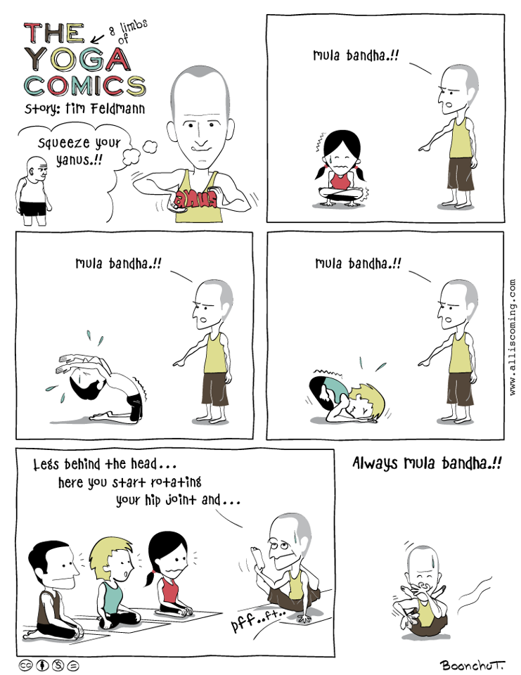 Hilarious  Tim Feldmann  comic courtesy of  Boonchu Tanti , creator of  The Yoga Comics ! Boonchu's work is so funny and on point, click the links for more.