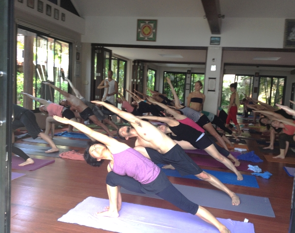 Guided Ashtanga Primary Series by Kino MacGregor. This was the first time I attended a workshop with more than 50 students from all over the world. Samahita Retreat, Koh Samui, Thailand.