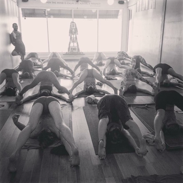 A photo from Lisa of all of us during led class at MLC's Intensive :)
