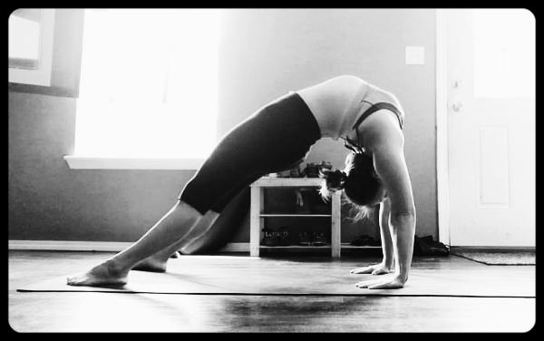 Gratuitous yoga selfie