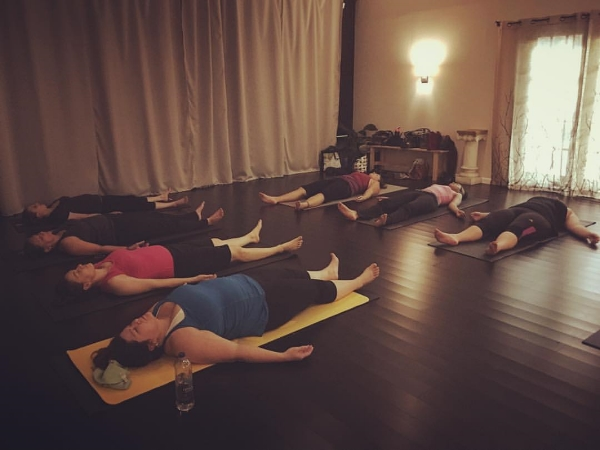 My Intro to Ashtanga class taking their hard earned rest