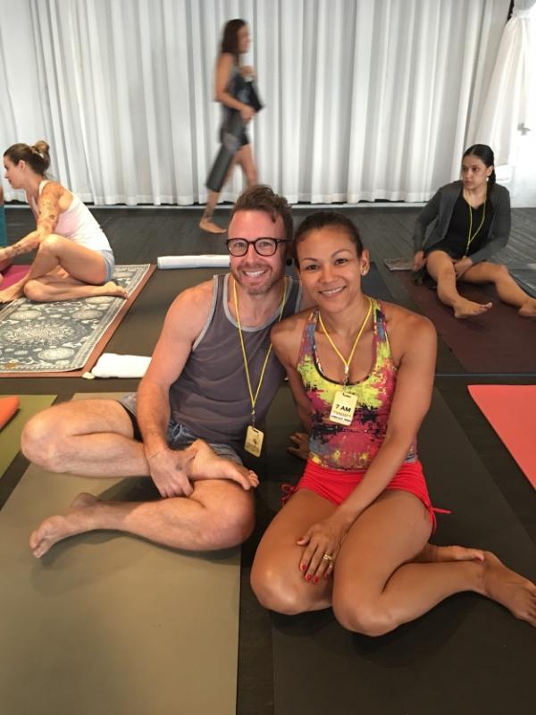 I got to practice right beside David Robson, level-2 authorized Ashtanga practitioner.