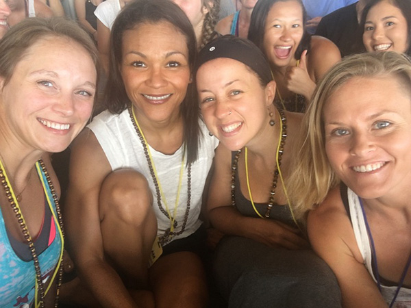 Lisa, me, Nikki and Courtney sitting together at the conference. Two of our 2015 Ashtanga Intensive friends in the back, Isobel Pounder and Sasha Nielsen.