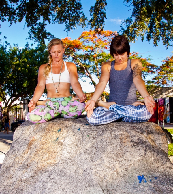 Maybe if Nikki and I sit in lotus on this rock long enough, we will gain some sort of wisdom...