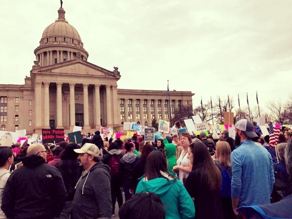 Oklahoma's Women's March on Washington. Photo courtesy of Cherish Walker.