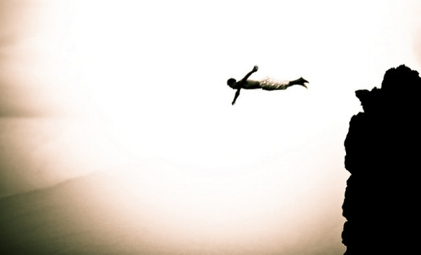 Sometimes following our inner guidance feels like a leap of faith. Photo courtesy of  Aftab Uzzaman  on flickr.