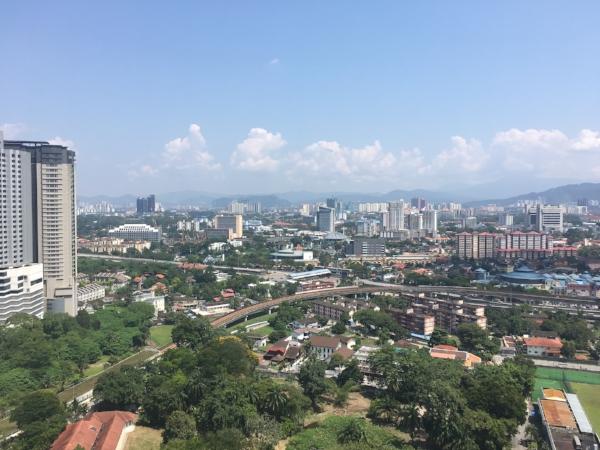 Beautiful view of Kuala Lumpur, Malaysia.
