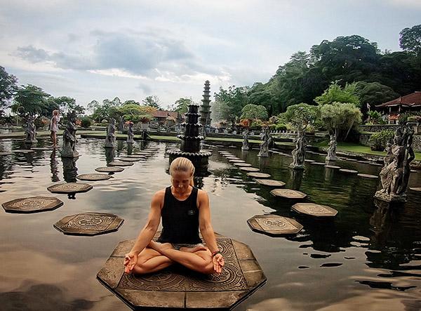 At Tirta Gangga water palace in Karangasem, Bali