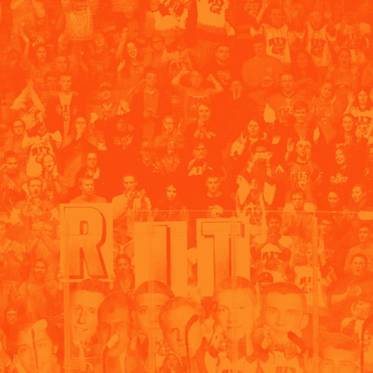 RIT fans: vibrant orange background overlay