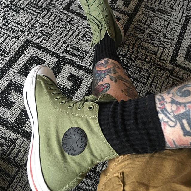 Tattoos and Chucks. #tattoos #chucktaylor #chucks #allstars
