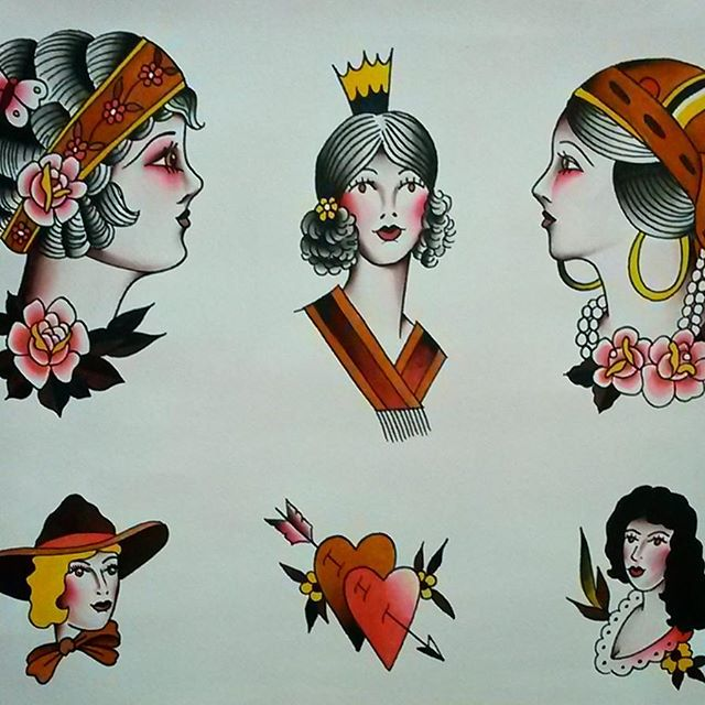 Set of flash with prints soon. Thanks for looking, have a good day!#tattooflash #traditionalflash