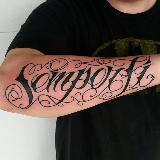 Walk in from today, Thanks for looking. #tattoo #lettering #abouttimetattoo #semperfi