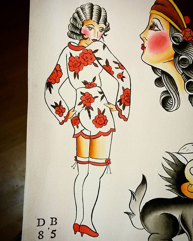 Homework. Sjöhistoriska Museet repaint. #tattooflash #traditionalflash