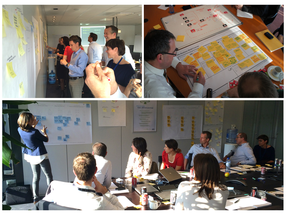Workshops with Alpro (September 2014) and Tessenderlo (March 2012): business model canvas, results presentation