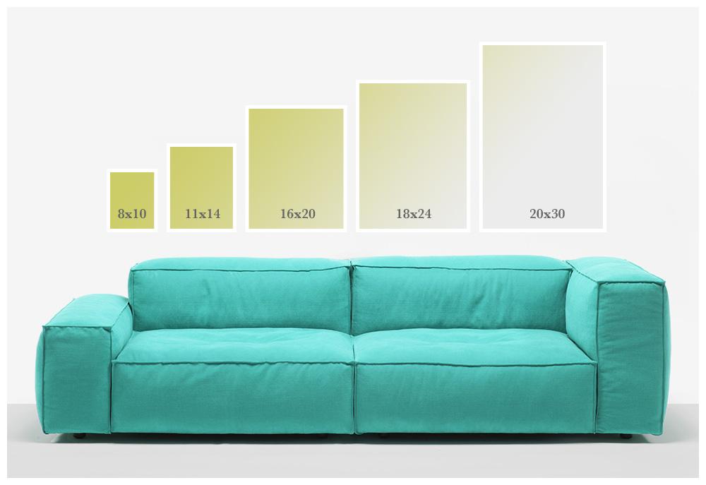 Size Comparison Chart. Various Sizes Available.