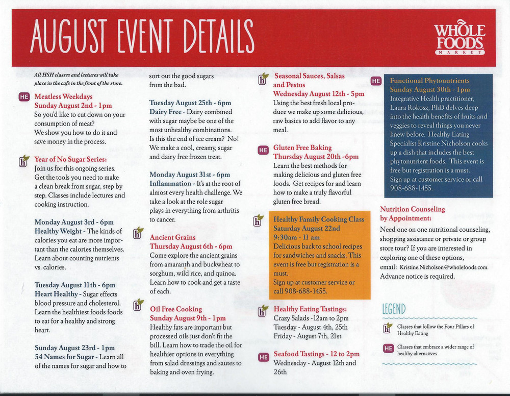 August Calendar of Events, Page 1