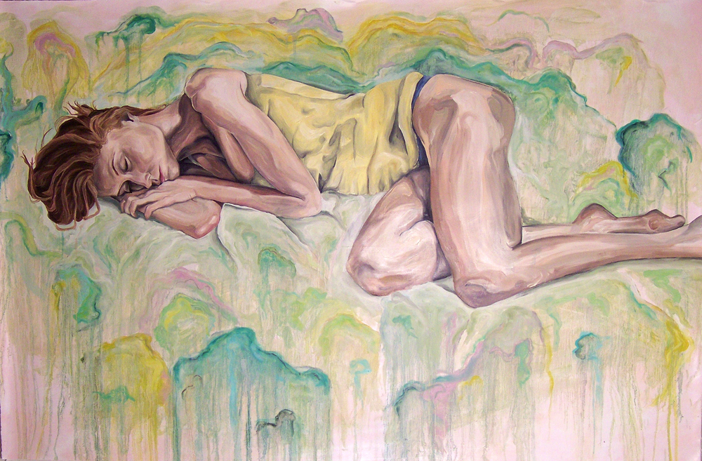 Laying Girl_2012_oil on paper_54inx39in.jpg