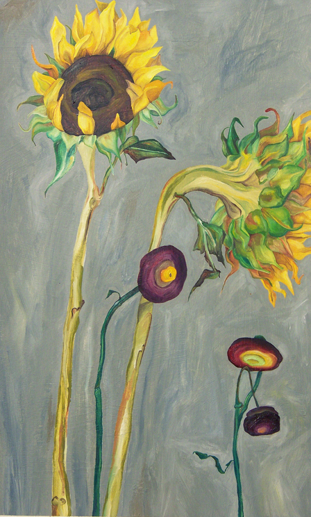 Sunflowers_2010_oil on paper_14inx26in 600 pixels high.jpg