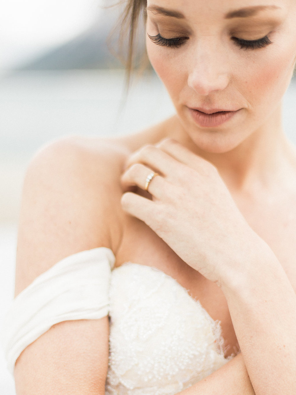 Lake Minnewanka Bridal Editorial Featured on Dear Gray Magazine